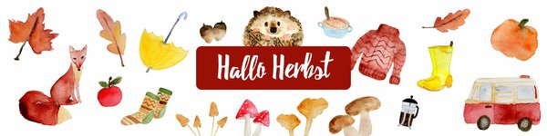 Herbst Shop Banner andbuttercups Papeterie und Illustration