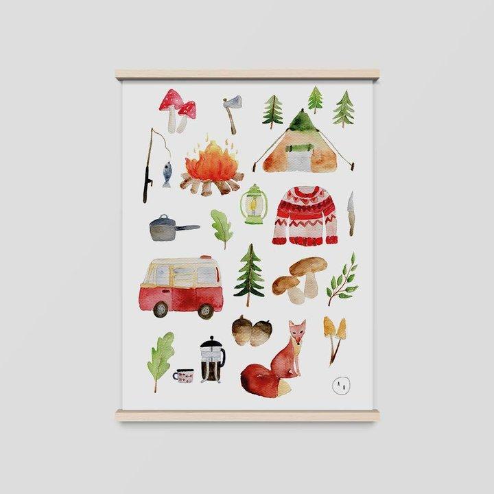 poster camping a4günstig online kaufenillustration